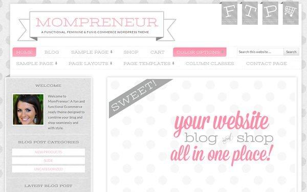 MomPreneur Theme Screenshot