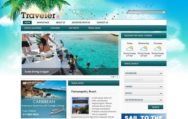 Traveler Theme Screenshot