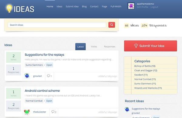 Ideas Theme Screenshot