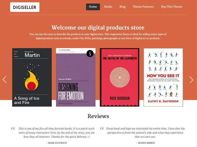 DigiSeller WordPress Theme