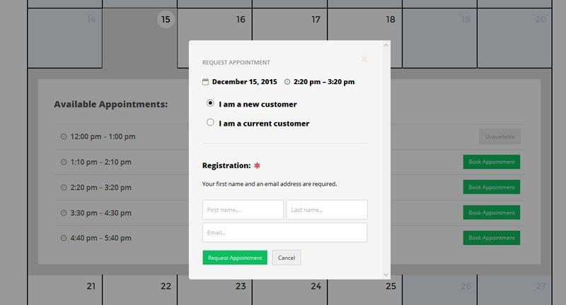Booking Availability Calendar