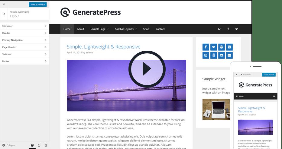 GeneratePress 2.0