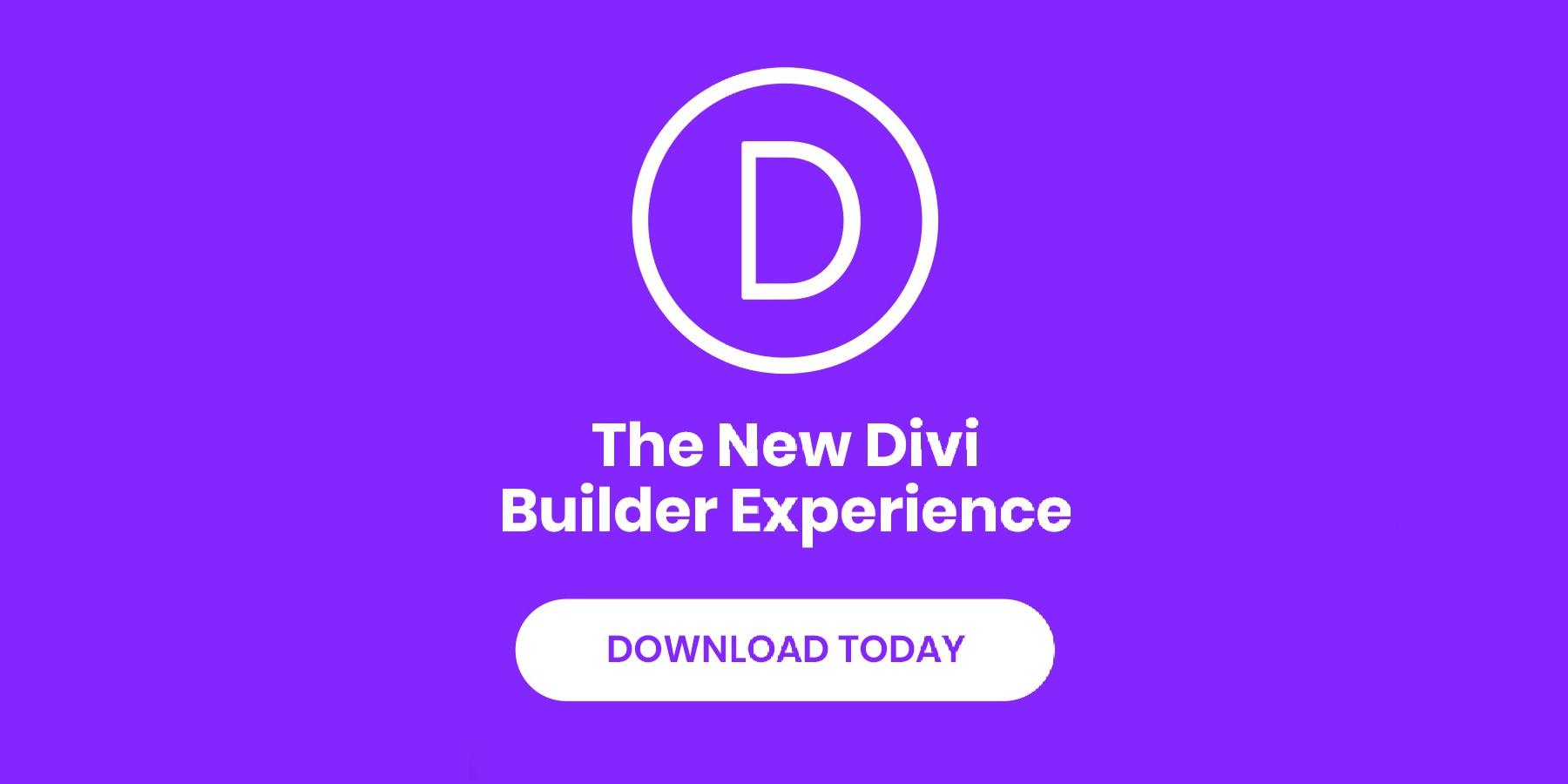 Divi Builder Experience