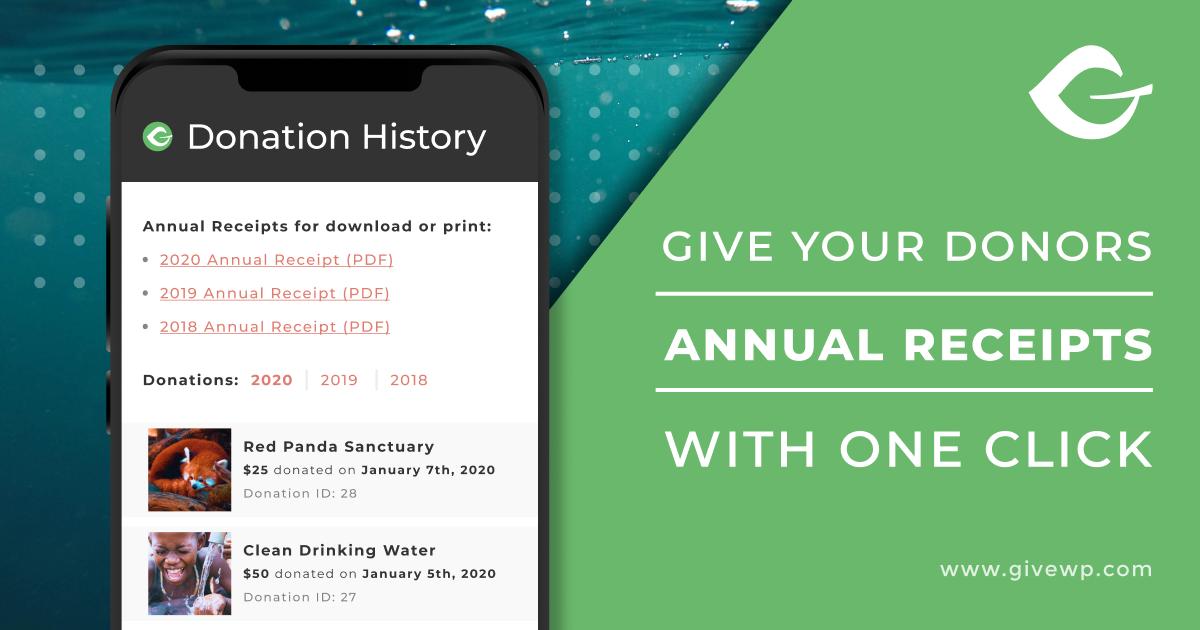 Annual Donation Receipts