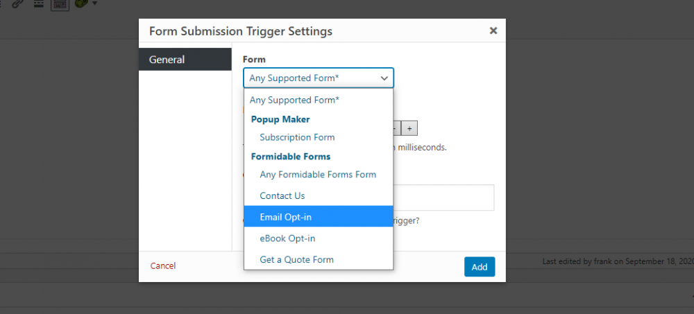 Formidable Forms Integration