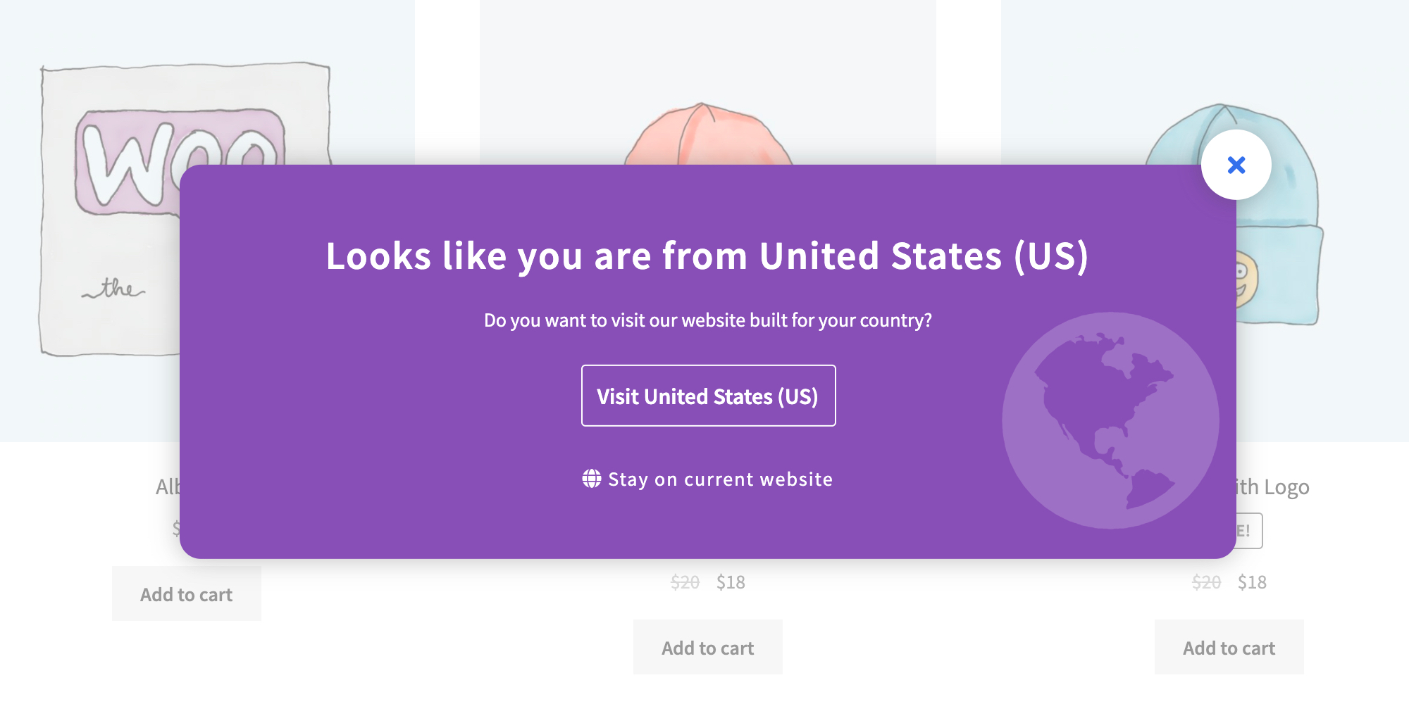 Country Based Website Switcher