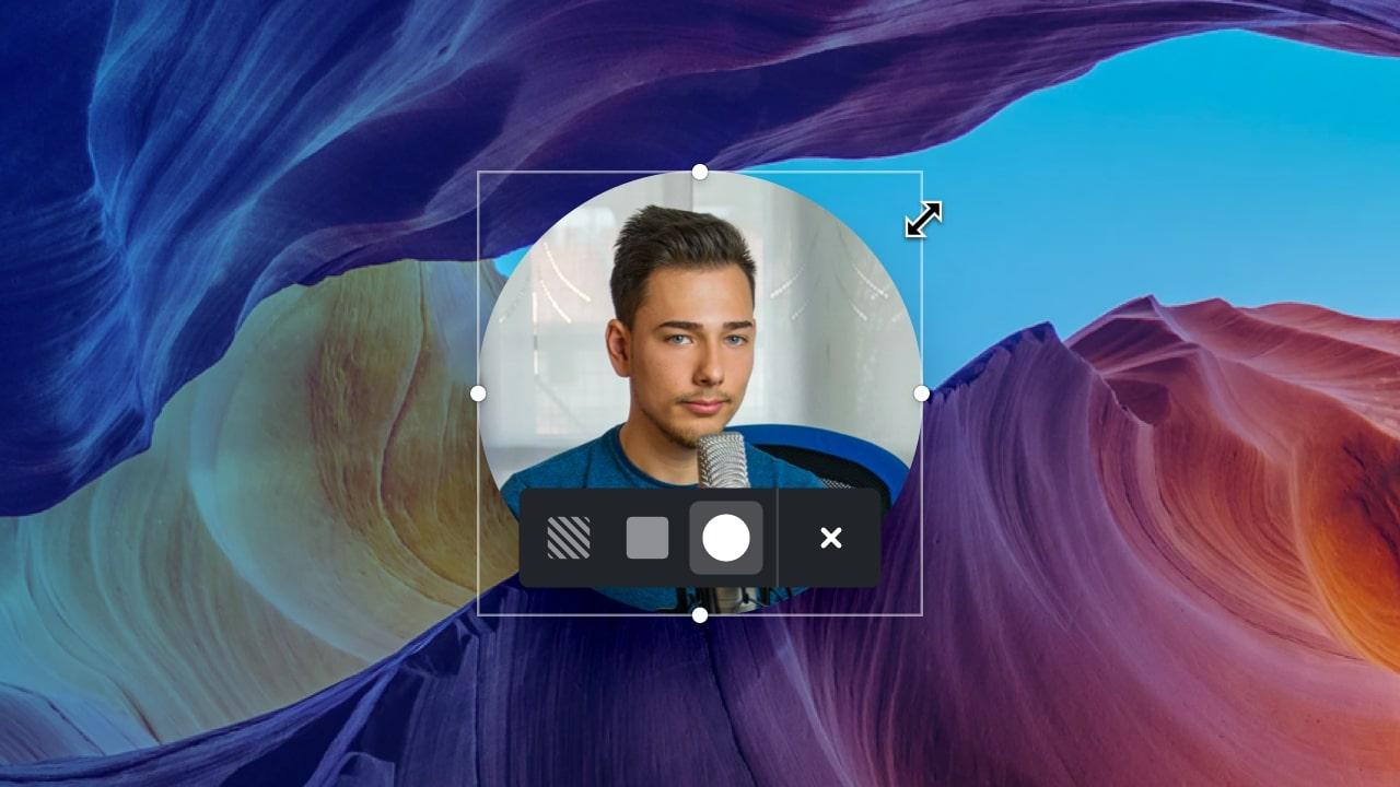 Circular Webcam Bubble