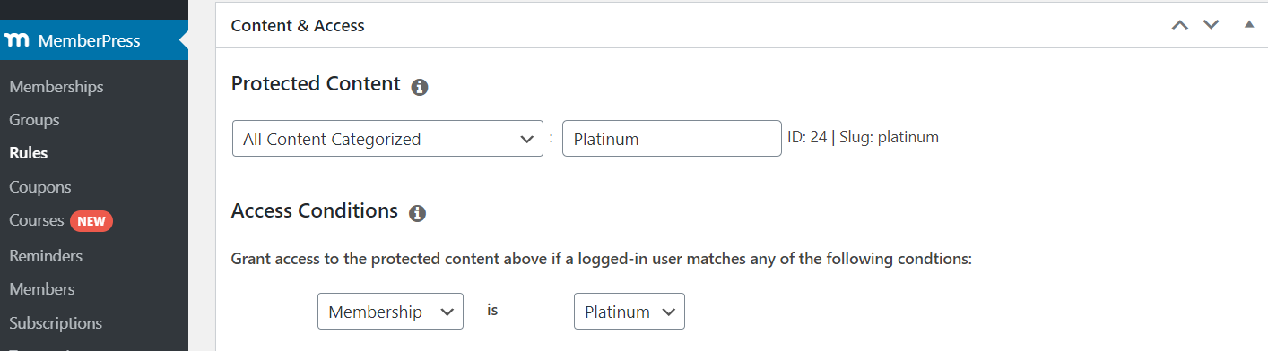 Restrict Content By Category