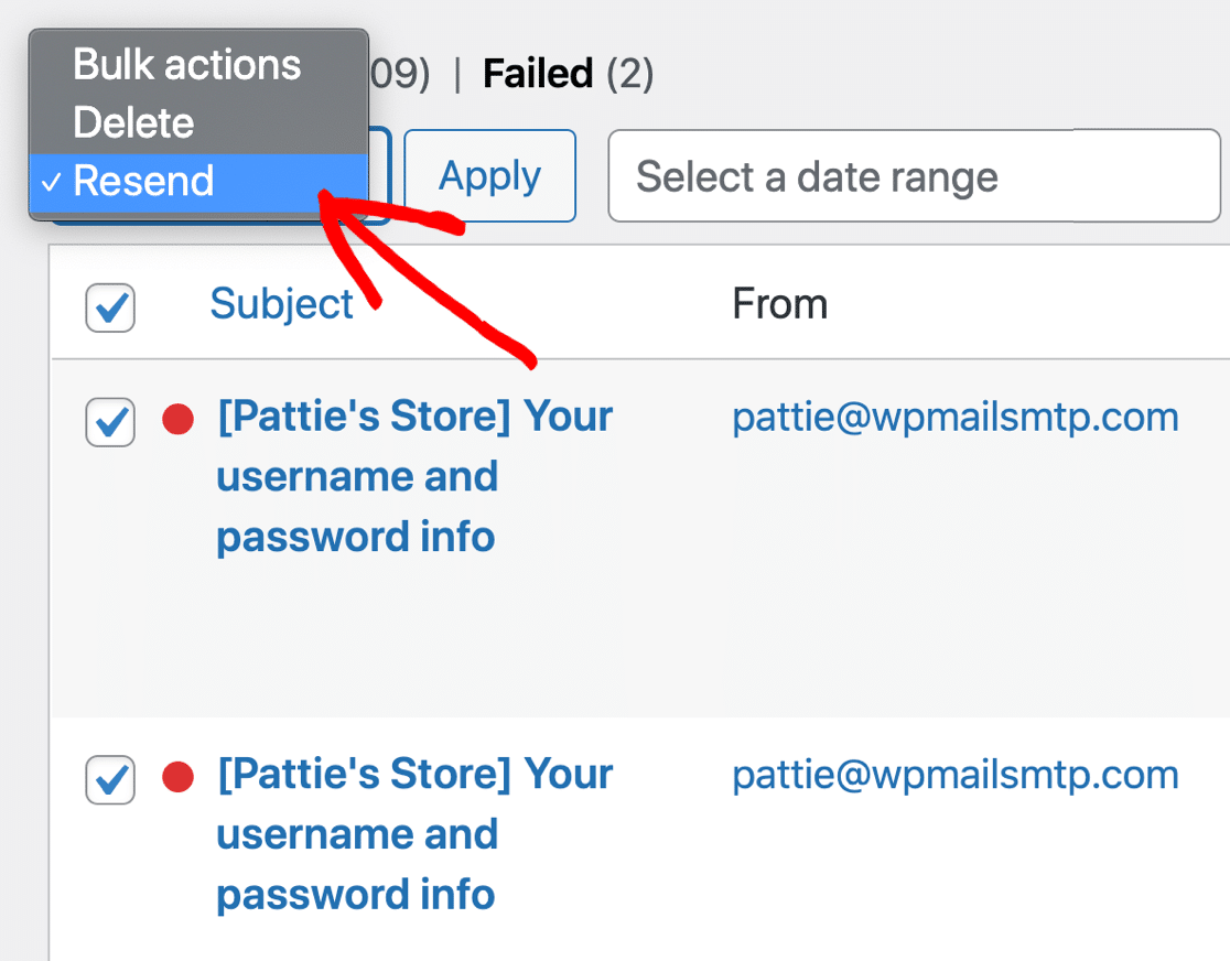 Bulk Email Resend