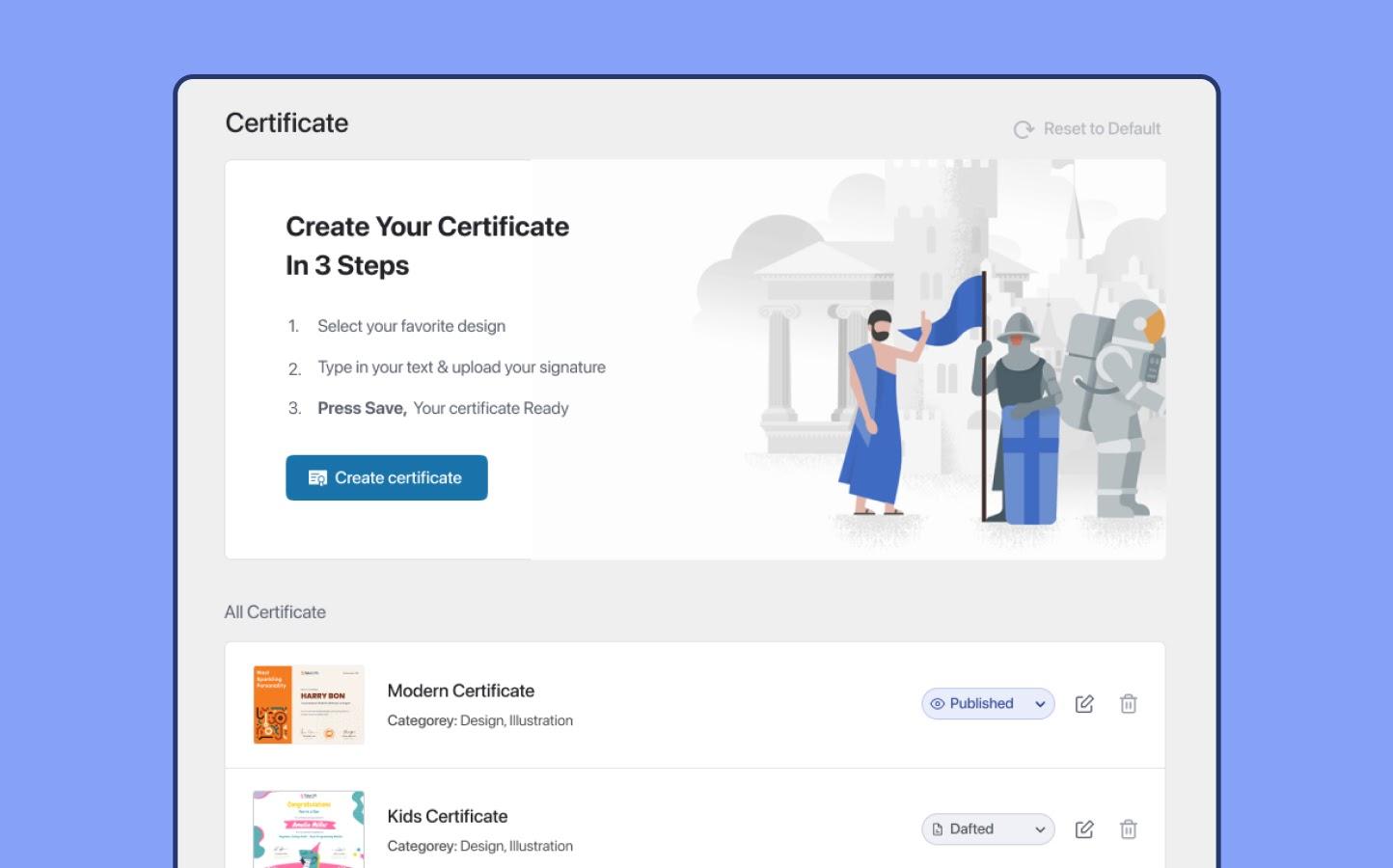 Certificate Setup